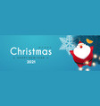 merry christmas and happy new 2021 year design vector image vector image