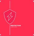 modern linear background for protection company vector image vector image