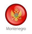 montenegro round button flag vector image