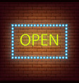 neon sign open shop 24 7 neon light sign vector image vector image
