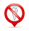 No Ice Cream Sign vector image vector image