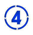 number 4 icon vector image vector image