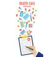 online medicine banner vector image