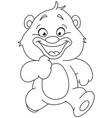 outlined running teddy bear vector image vector image