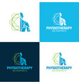 physiotherapist logo and icon vector image vector image