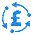 Pound Rotation Grainy Texture Icon vector image vector image