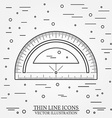 Protractor on white background vector image