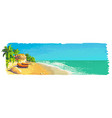 quiet private sunny tropical beach landscape with vector image