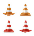 red and orange road cones realistic vector image vector image