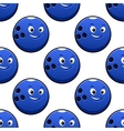 Seamless cartoon blue bowling ball characters vector image vector image