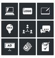 set creative agency icons computer vector image