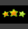 set decorative star rating game from vector image vector image