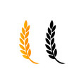 set of icons ears of wheat icon of premium vector image vector image