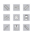 set of medical stuff and elements vector image