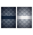 Silver and dark blue greetings vector image vector image