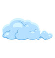 single blue cloud icon vector image vector image