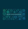 stop coronavirus colorful banner virus vector image vector image