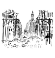 street new york vector image vector image