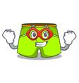 super hero cartoon sport fashion shorts for vector image