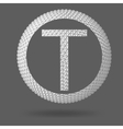 The letter T Polygonal letter Abstract Creative vector image vector image