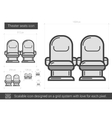 Theater seats line icon vector image
