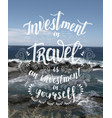 travel hand drawn for poster vector image vector image