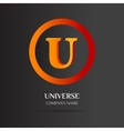 U Letter logo abstract design vector image vector image