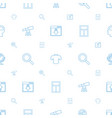 view icons pattern seamless white background vector image vector image