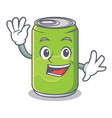 waving soft drink character cartoon vector image vector image