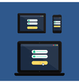 Web Template of Adaptive Online Login Form vector image vector image