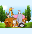 Wild animals in the park vector image vector image