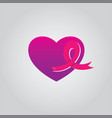 love ribbon cancer vector image