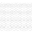 Gray hexagon grid seamless pattern vector image