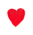 hand-drawn painted red heart element for your vector image