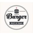 Logo with hamburger vector image