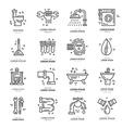 Plumbing Icons vector image