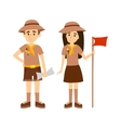 Scout people vector image