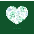 abstract blue and green leaves heart vector image