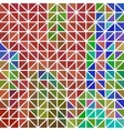abstract - geometric colored triangle grid vector image vector image