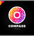 abstract multicolor compass symbol logotype