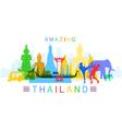 Amazing Thailand vector image