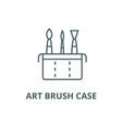 art brush case line icon art brush case vector image vector image