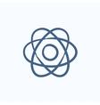 Atom sketch icon vector image vector image