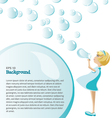 Background bubbles vector image