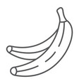 banana thin line icon fruits and vegetables vector image vector image