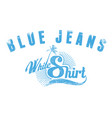 blue jeans white shirt vector image vector image