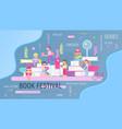 book festival fair vector image vector image