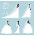 Bride in dressWedding bridal shower setFlat vector image vector image