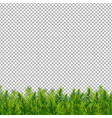christmas tree border transparent background vector image vector image