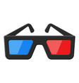 cinema 3d glasses vector image